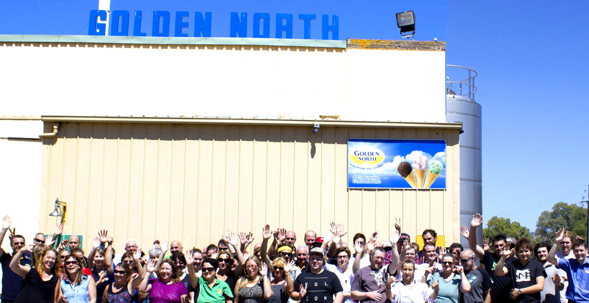 Golden North Ice Cream Team Laura South Australia