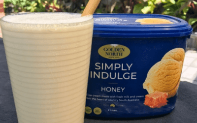 Honey Ice Cream Milk Shake